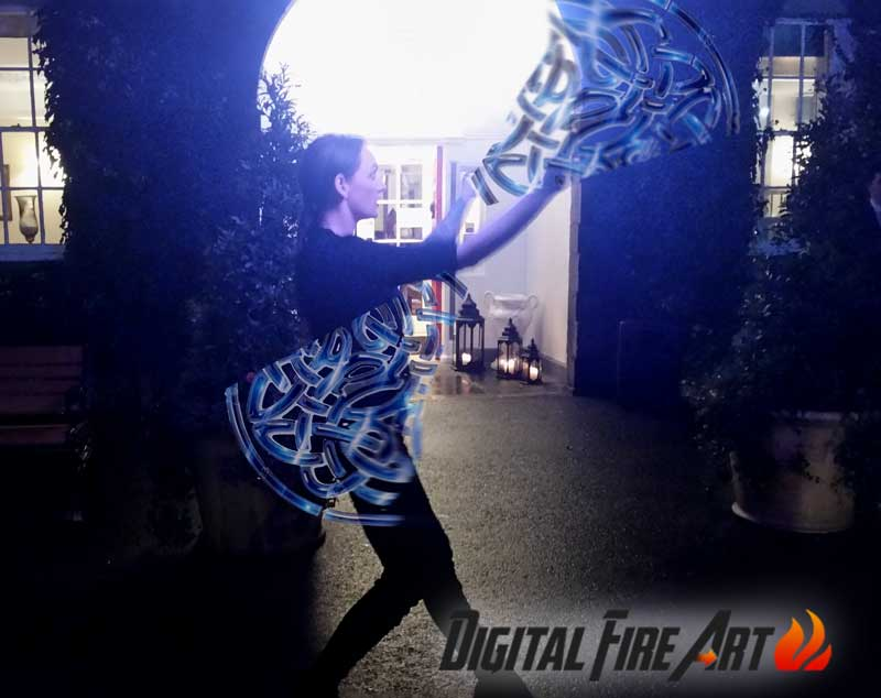 Digital Fire Poi Performers with www.wedding-entertainment.ie